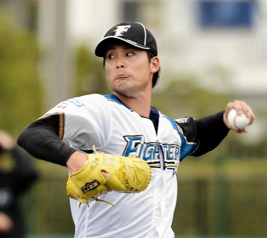 北海道日本ハムの上原健太投手