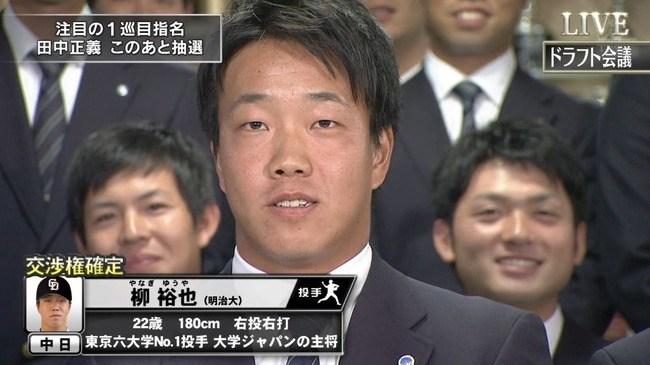 柳裕也(中日ドラゴンズ)ドラフト1位