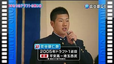 炭谷銀仁朗(埼玉西武ライオンズ)ドラフト1位