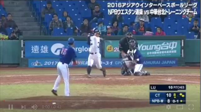 吉田正尚(アジア・ウインターリーグ)台湾