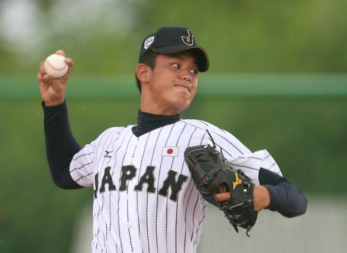 高橋光成(前橋育英高校 )日本代表